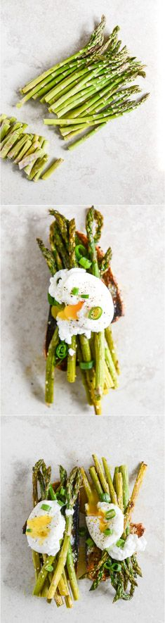 ROASTED SESAME ASPARAGUS TOAST with POACHED EGGS I howsweeteats.com