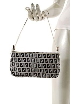 a049d7fe4af7 Fendi Logo Clutch Baguette Leather Glue