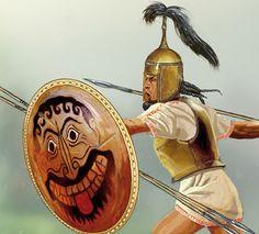 Hoplitas arcaicos, fragmento