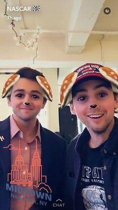 Ryan Blaney and Chase Elliott on NASCAR's snapchat