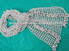 Artes na Passarela: Cachecol de crochê