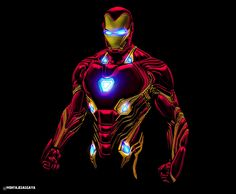 Iron Man neon bg