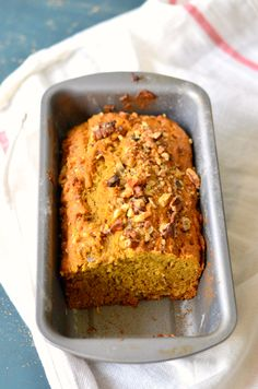 Delicious Pumpkin banana walnut bread for Thanksgiving and Christmas. An easy family brunch recipe.