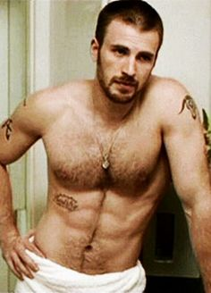 Chris Evans looking real, but still really hot!!
