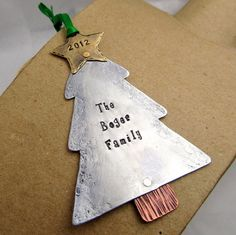 Metal Stamped Christmas Ornament