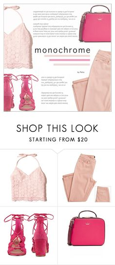 """Color Me Pretty: Head-to-Toe Pink"" by petrapoly ❤ liked on Polyvore featuring Hollister Co., Nine West, Kate Spade, polyvorecommunity, polyvoreeditorial and monochromepink"