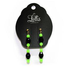 Brinco verde neon