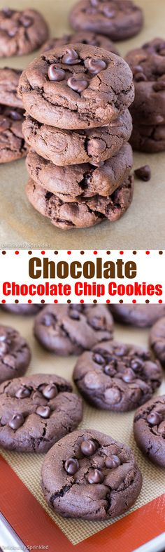 Soft Chocolate Chocolate Chip Cookies