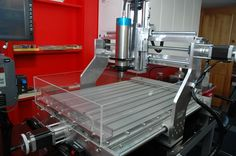 DiY CNC Router that can mill aluminum. Very slick design,