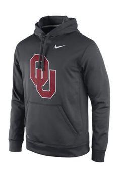 Nike Oklahoma Mens 2015 Practice Hoodie Performance Hood
