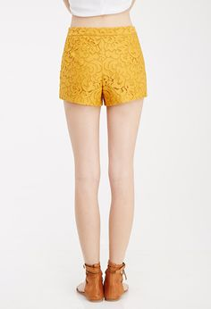 Baroque Lace Shorts | Forever 21 Canada