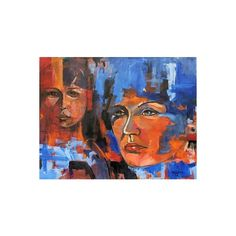 NOVICA Expressive Eyes Brazil Fine Art Painting ($690) ❤ liked on Polyvore featuring home, home decor, wall art, expressionist paintings, paintings, novica, novica paintings, eye painting, shadow painting and woman painting