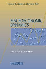 Macroeconomic Dynamics - http://journals.cambridge.org/mdy
