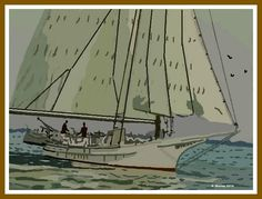 Off To Bermuda Digital Art by Allison Murray Canvas Art, Canvas Prints, Canvas Material, Sailing Ships, Digital Art, Boat, Dinghy, Photo Canvas Prints, Painted Canvas
