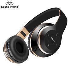 Sound intone bt-09 auriculares bluetooth inalámbrico auriculares estéreo de auriculares con micrófono apoyo tf tarjeta de radio fm para el iphone samsung