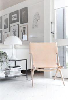 Saxe chair By Lassen in a serene Norwegian home on a hill. Nina Holst.