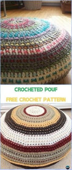 Crocheted Pouf Free Pattern - Crochet Poufs & Ottoman Free Patterns