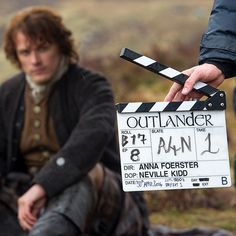 A lovely picnic in the Scottish highlands... Action! @samheughan #OutlanderSeries #STARZ #BehindTheScenes #BTS