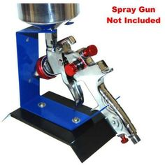 Benchtop GRAVITY FEED SPRAY GUN HOLDER STAND Auto Paint Table Bench Top HVLP