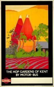 The Hop Gardens if Kent - London Transport poster, 1922.