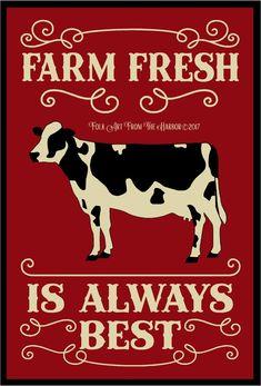 photo Farm Fresh Is Always Cow Painting, Stencil Painting, Cow Pictures, Colorful Pictures, Cow Decor, Ranch Decor, Cow Art, Halloween Signs, Vintage Farmhouse