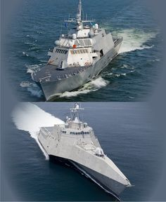 US Navy Littoral Combat Ships: USS Freedom, lead ship of class (LCS 1) of the…
