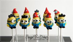 Minion Cake Pops by Sugar Pop Bakery, Greystanes, New South Wales, Australia. You'll find this Cake Appreciation Society Member in our Directory at www.cakeappreciationsociety.com
