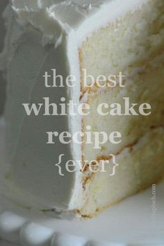 LaughSmile  » Blog Archive   » The Best White Cake Recipe {ever}. #Food-Drink