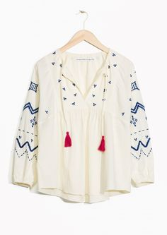 & Other Stories image 1 of TOMS Embroidered Blouse in Off white
