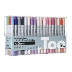 Copic Ciao Marker Set, 72 Color Set B
