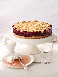 Sauerkirschtorte - Famous Last Words Egg Recipes For Breakfast, Healthy Dessert Recipes, Easy Desserts, Mug Recipes, Baking Recipes, Cake Recipes, Winter Cakes, Dessert Simple, Sour Cherry Pie