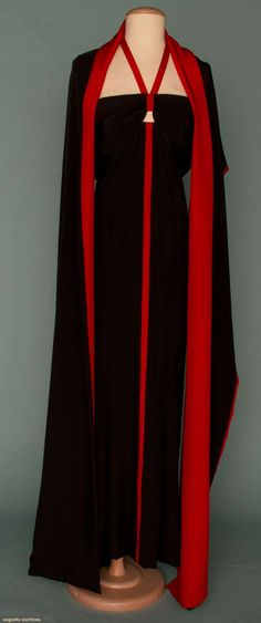 Augusta Auctions - Pauline Trigere halter gown and wrap -  1986