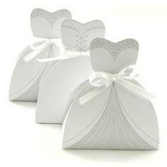 Cajitas con forma de vestido para bodas y 15 años, tutorial con molde.