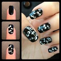 halloween nail art | ... little selection of DIY ideas for you Halloween night nail art. Enjoy