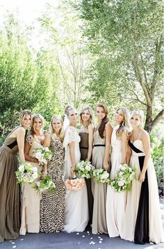 How to Make Sure Your Bridesmaids Are Super Stylish via @WhoWhatWear // Neutral
