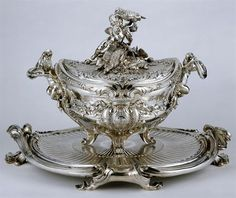 The Germain Silver Service or Portuguese Royal Service: Stew Tureen. 1756-58, Paris. (total of 4)