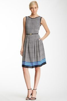 Crew Neck Belted Dress by Jones New York on @HauteLook