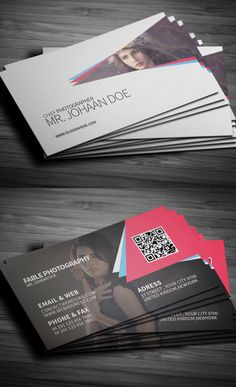 photographer photography videographer camera business card