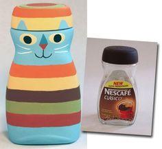 DIY Upcycle Coffee Bottles Idea DIY Upcycle Coffee Bottles Idea by diyforever Diy Bottle, Bottle Art, Bottle Crafts, Bottles And Jars, Plastic Bottles, Jar Crafts, Diy And Crafts, Garrafa Diy, Diy For Kids