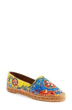 Dolce&Gabbana 'Baroque' Espadrille Flat (Women) available at #Nordstrom