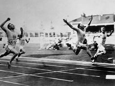 Charley Paddock Leaps For Gold (1920) After serving in the U.S. Marines during World War I, Charley Paddock competed in the 1920 Olympics as part of the track and field team. While there, the Gainesville, Texas, native turned heads with his unusual finishing style, leaping toward the finish line ahead of his competition. The style worked. Paddock took home gold in the 100 meters and the 4x100 relay and silver in the 200 meters. - photo from SL.com