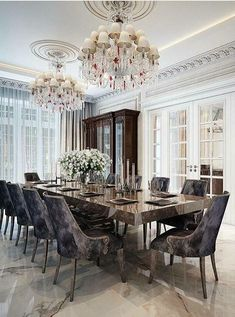 Discover ideas about Elegant Dining Room - Modern Living Room Decor, Living Spaces, Bedroom Decor, Table And Chairs, Dining Table, Elegant Dining Room, Other Rooms, Kitchen Decor, Room Ideas