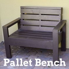 pallet bench, how to, outdoor furniture, painted furniture, pallet, repurposing upcycling, woodworking projects
