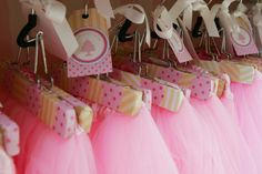 Tutu tea party with tutus as favors - tons of ideas from this party