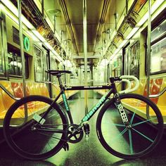 Another hybrid-rim fixie.  In the tube, riding alone...