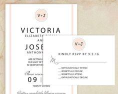 Diese lustige Hochzeitseinladung von VG lädt Merkmale der Braut und Bräutigam Monogramm Initialen mit einer humorvollen Antwortkarte. Ihre Freunde und Familie werden beim Empfang von diese lustige Hochzeit Einladung in der Blush kichern. Sie kommen mit Ihrem Wortlaut vollständig customized. Wenn Sie diese selbst ausdrucken möchten, erhalten Sie eine hochauflösende druckbare digitale Datei im Pdf-Format, die Sie, so oft drucken können wie Sie möchten. Benutzerdefinierte Drucken ist verfügbar…