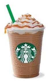 Starbucks Caramel Frappuccino Light You Can Now Make at Home...Starbucks says their light version is 54% fewer calories per serving than the original Frappuccino. Recipe has 132 calories, 1.8 grams of fat and 4 Weight Watchers POINTS PLUS.