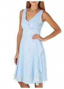 ELIGERE | Layered Chiffon Sleeveless Dress Pale Blue