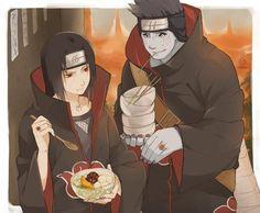 #Dessin Itachi Uchiwa et Kisame Hoshigaki akatsuki #Naruto par mitarashi0111