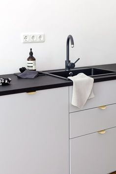 ikea kitchen with superfront handles